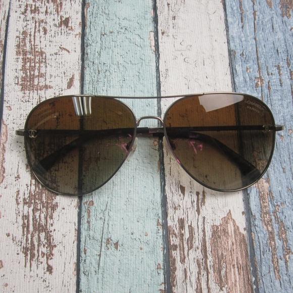 0947638223d CHANEL Accessories - Chanel 4189-T-Q Aviator Sunglasses Italy OLI134
